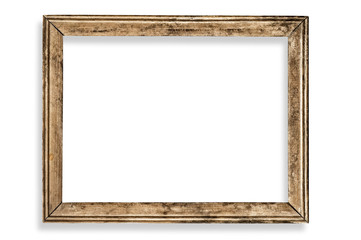 Vintage picture frame, blank, with clipping path.