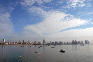 wid angle picture of the panama city