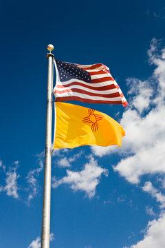 Flagge USA und New Mexiko