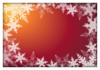Christmas card with snow flakes and text area