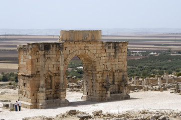 Entrance to the Roman ruin at Volubilis, Morocco