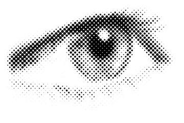 vector halftone eye