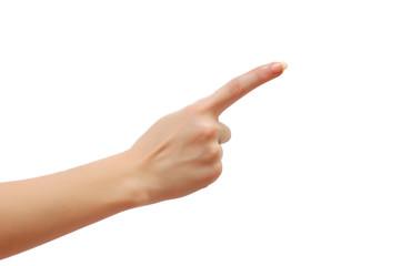 Index finger isolated on white background