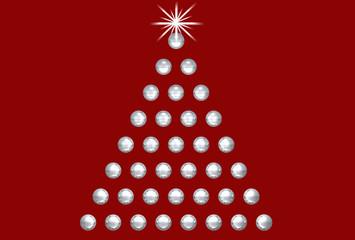 Weihnachtsbaum - Design Rot