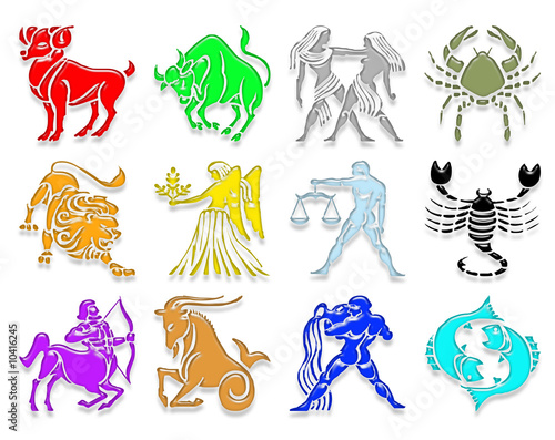 "Horoscope Des 12 Signes les 12 signes astrologiques"" stock photo and royalty-free images on"