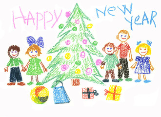 New year's drawing