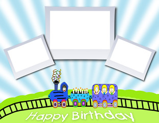 Happy Birthday Train Background