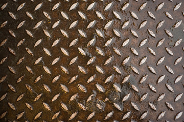 Closeup of real diamond plate material - not an illustration.