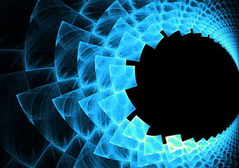 An abstract fractal vortex background with copy space