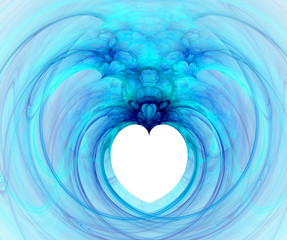 Fractal with heart on a white background