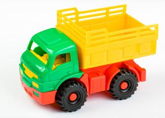 Plastic lorry toy