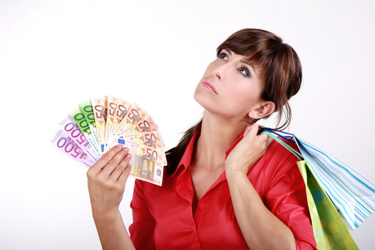 Shopping Woman Money