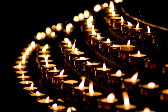 Candle light in a church