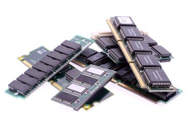 Close up of SIM memory module