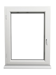 plastic window isolated on white