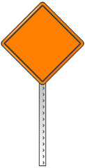 A traffic sign with blank area for your own text or design.