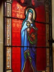 Photo sur Plexiglas Vitrail Vitrail de la Vierge Marie