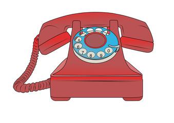 telefono vintage - rosso