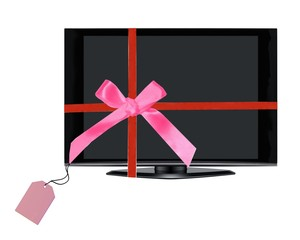 Television set as a Christms gift