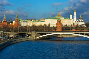 Fototapete - The view of Moscow Kremlin, Russia