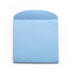 Blue evnelope, clipping path