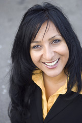 Beautiful smiling business woman