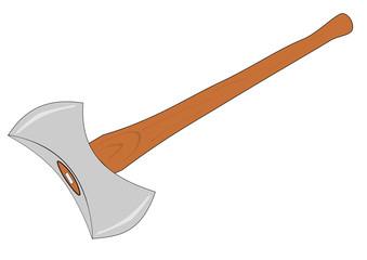 A Isolated double bladed axe vector