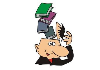 Kopf mit Buch