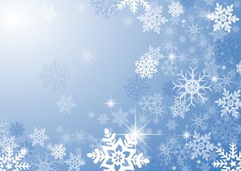 Sfondo natalizio con fiocchi di neve