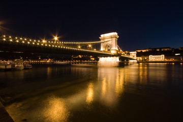 Night shoot from Budapest with bridge