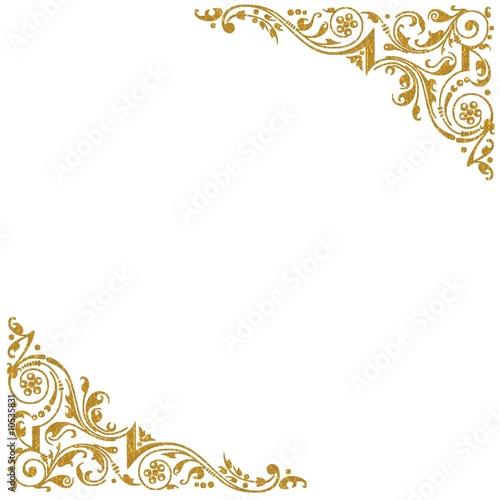 Fond coins decoratifs dores photo libre de droits sur la for Image miroir photoshop
