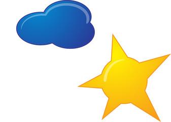 sonne und wolke