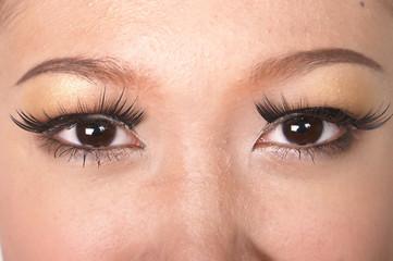 face close up make up