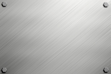 Steel or metal plate background with bolts