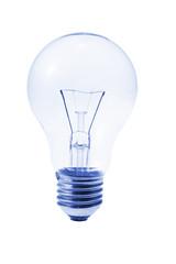 Light Bulb on Isolated White Background