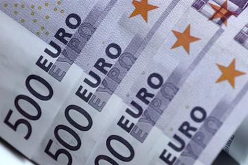 Fotobehang Kranten 500 Euro Scheine