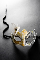 Small Golden Venetian Mask