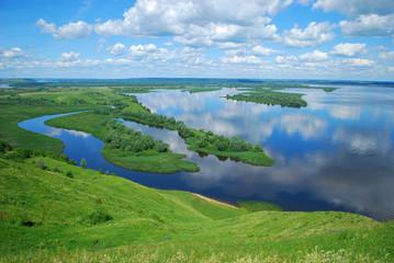 Landscape on the River Volga, Russia