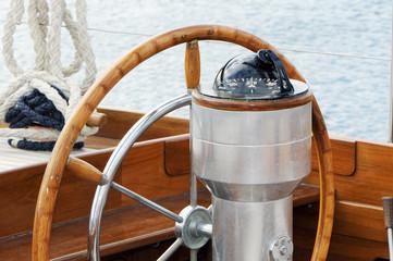 Rudder and compass