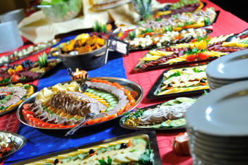 Catering fresh and teasty food