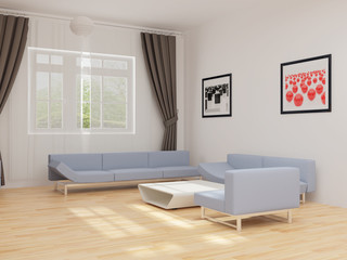 Drawing room with furniture