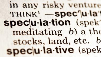 Speculation - Definition