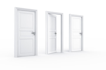 2 closed door 1 open