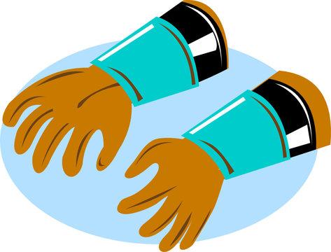 Power lineman's rubber gloves