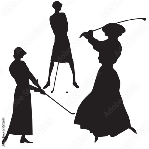 Woman Golf Player Silhouette Vector Stock Image And Royalty Free