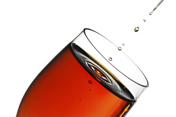 Fototapete - glass of sherry