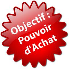 "Tampon ""Objectif : Pouvoir d'Achat"""
