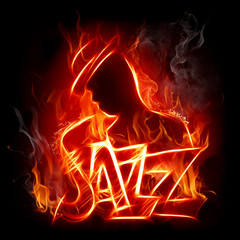 Canvas Prints Flame Jazz