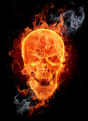 Wall Murals Flame Fire skull