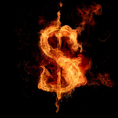 Fire dollar sign